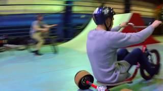 Трюки на дрифт трайке в скейт парке   Drift Trike in Skate Park #TORNADOTRIKES