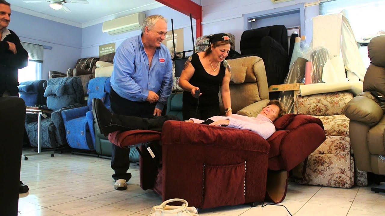 tilt n lift sleeping bed chair