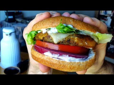 Best Veggie Burger Ever - Blackened Eggplant Sandwich