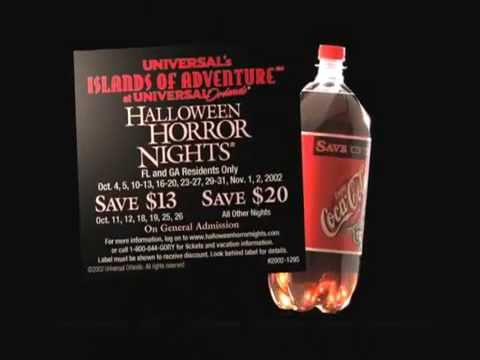 halloween horror nights 12 commercial coke