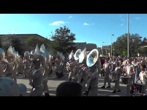 Fightin' Texas Aggie Band March-in for Alabama Game - Oct 7, 2017