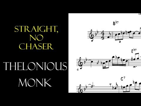 Thelonious Monk Solo Transcription on Straight No Chaser