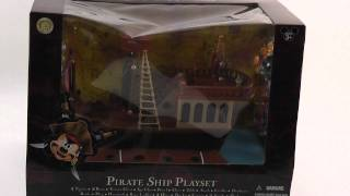 Disney Mickey Mouse Pirates Of The Caribbean Pirate Ship Deluxe Playset