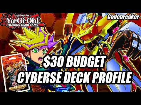 Yu-Gi-Oh! The $30 Budget Codebreaker Cyberse Deck Profile + Combo 2018! (3 Budget Starter Deck 2018)
