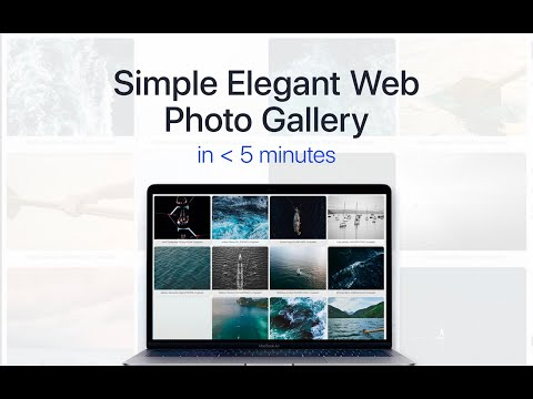 No Coding: How To Create A Simple Elegant Web Gallery Using One Script
