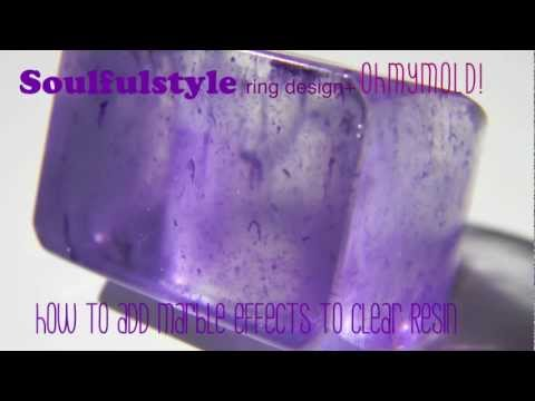 How to make marble effect on clear resin ring.mov