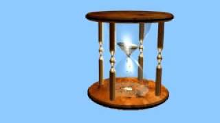 Animated Hourglass made with 3ds Max