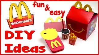 DIY Crafts: 4 Fun McDonald's DIYs- School Supplies (Phone Case, Mini Pen & Eraser, Notebook)
