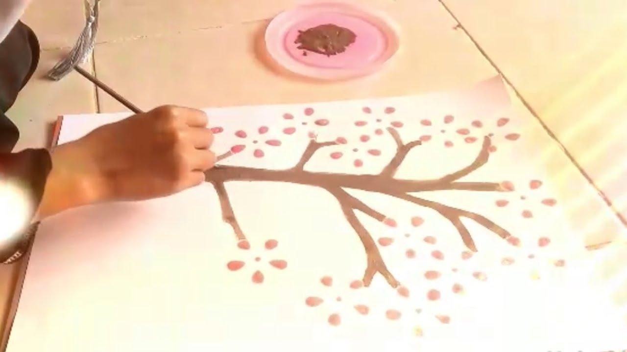 Cara Membuat Lukisan Bunga Sakura - YouTube 066047718d