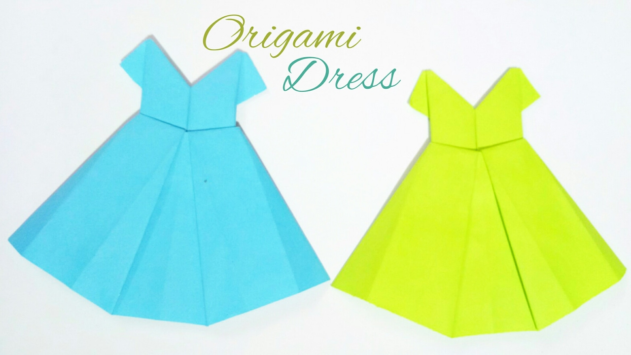 How to Make Origami Dress for Beginners - Easy Paper Dress DIY ... | 720x1280