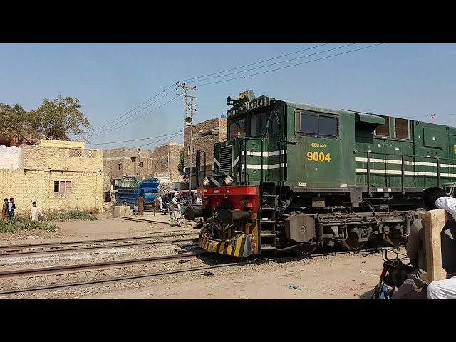 Pakistan Railway || American Locomotive || unloaded train || departure from Hyderabad junction