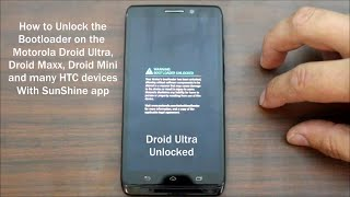 Motorola Droid Ultra, Mini, and Maxx Super Easy Bootloader Unlock with Sunshine app