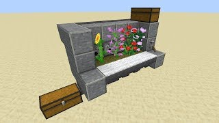MINECRAFT 1.15.2+ TWO TALL AUTOMATIC FLOWER FARM - LOSSLESS