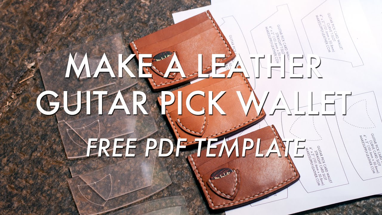 Make A Leather Guitar Pick Wallet Free Pdf Template Build Along