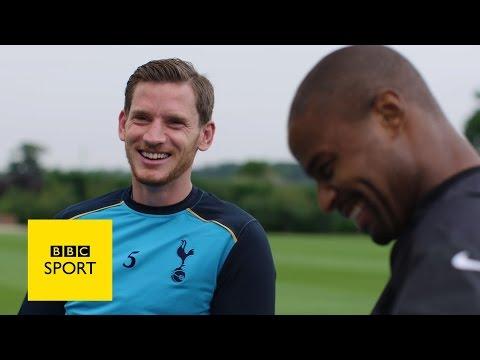 Spurs star Jan Vertonghen gets NFL tips - BBC Sport