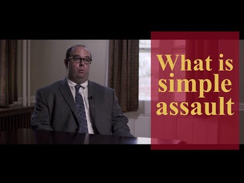 What is simple assault? | Pennsylvania Criminal Defense & Personal Injury Lawyers