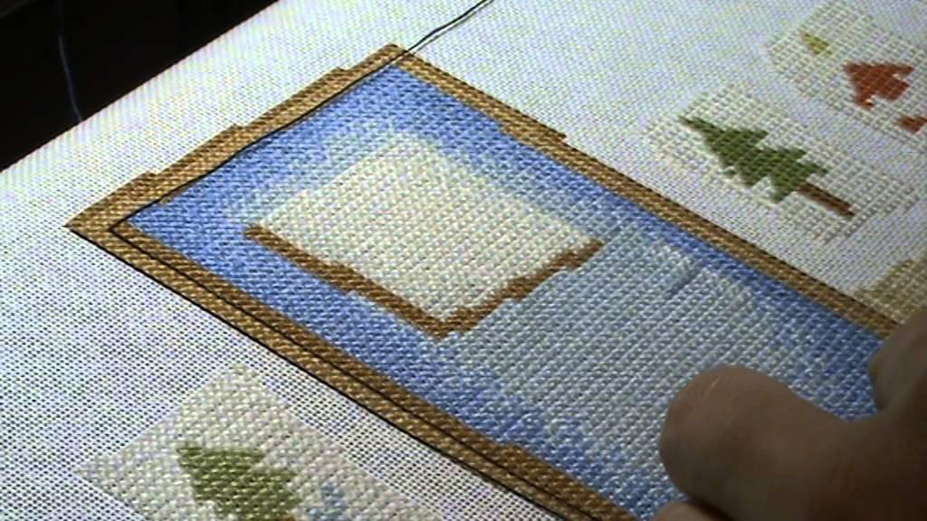 Выкладная нить при вышивке крестом 35