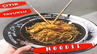 Çıtır Tavuklu Sebzeli Noodle Nasıl Yapılır?/Noodle Tarifi/Yapımı
