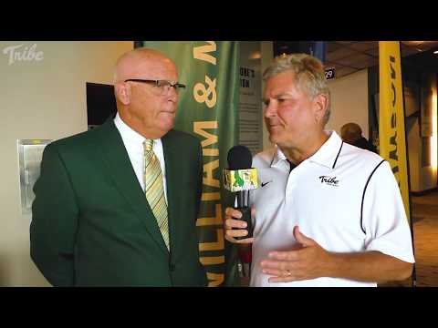 2017 Tribe Football - CAA Media Day Interview with Coach Laycock