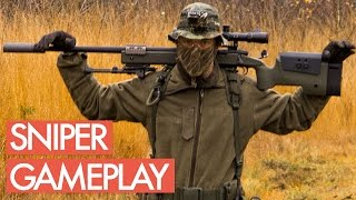 Airsoft Sniper Gameplay - Picking Up the Dead Pilot