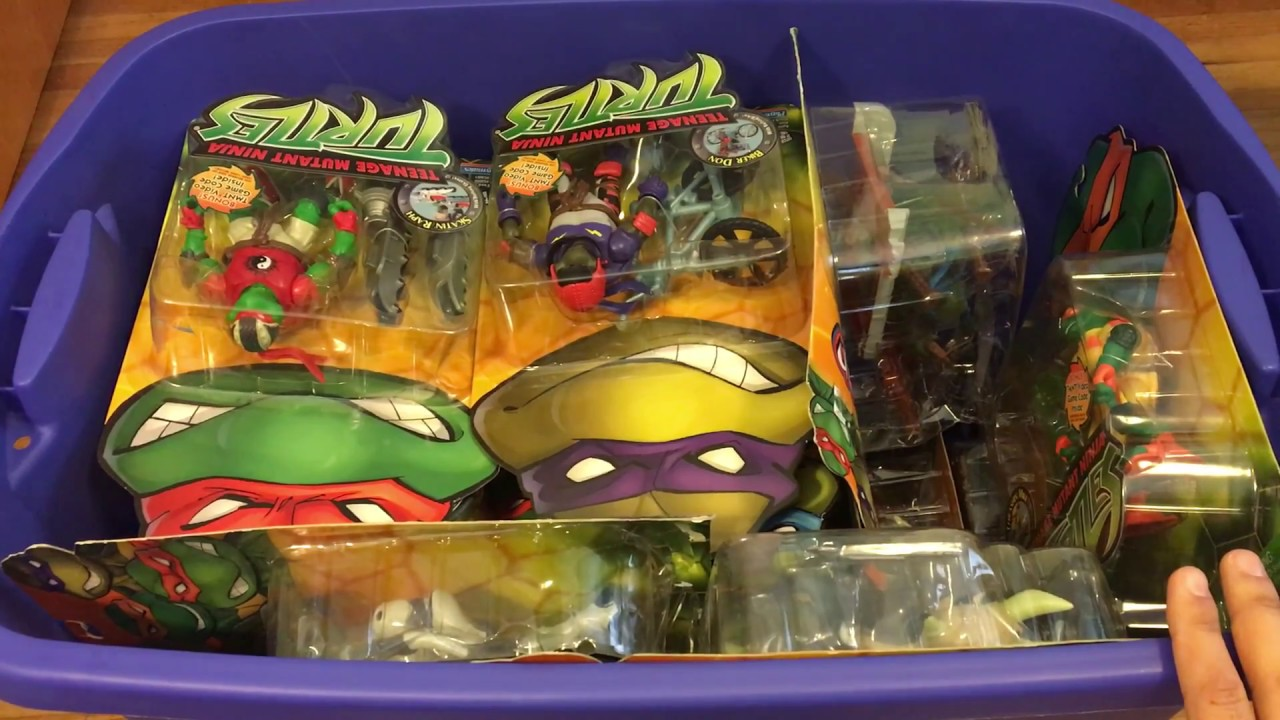 Teenage Mutant Ninja Turtles 2003 Toys : Unopened teenage mutant ninja turtles cartoon action