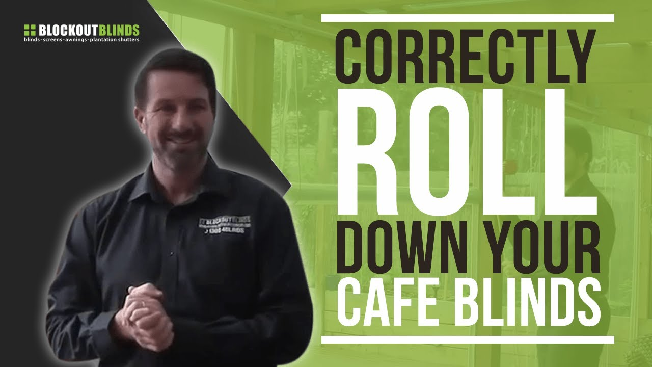 Learn how to correctly roll down your cafe blinds - YouTube
