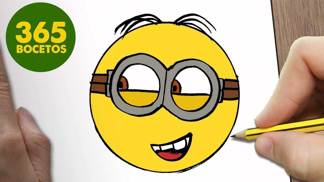 Como Dibujar Un Minion Emoticonos Whatsapp Kawaii Paso A Paso