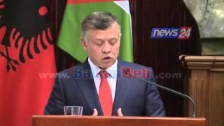 Mbreti i Jordanisë Abdullah II, vizitë zyrtare në Shqiperi