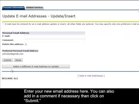 How-to Update Your Preferred Email Address