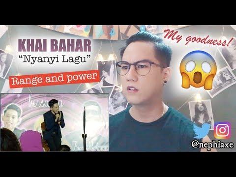 Khai Bahar - Nyanyi Lagu (Madah Berhelah - song of Ziana Zain) | REACTION