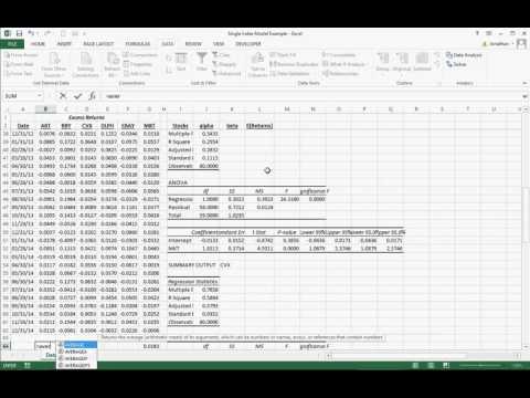 Sharpe single index model-2 (COM) von YouTube · Dauer:  22 Minuten 12 Sekunden