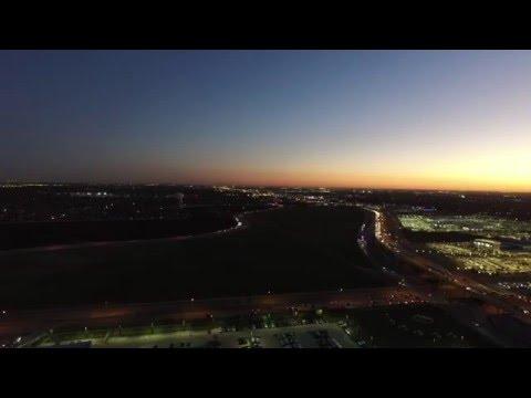 Late Evening Drone Flight Somewhere Over North Dallas 1440p HD