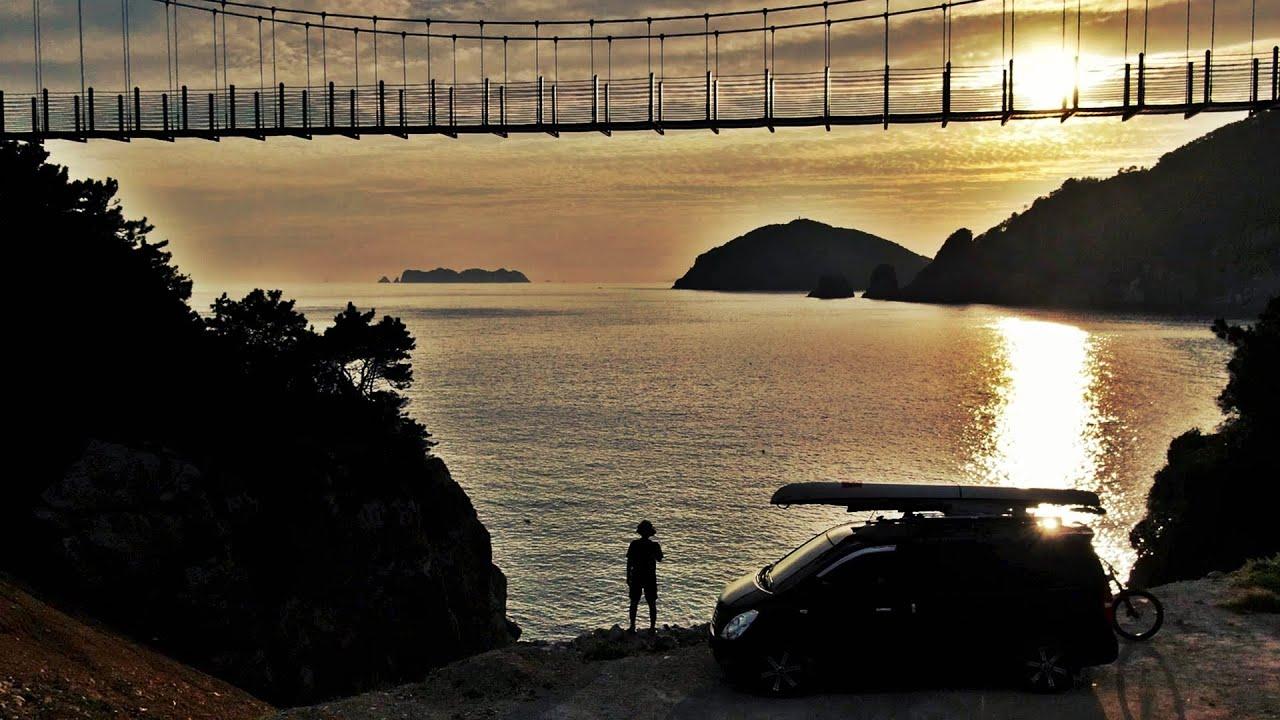 전국 어디로 여행가도 숙박료 0원 / 남해 최고의 바다뷰 욕지아일랜드 차박 / 자전거탐험 / 욕지도eMTB /korea Island [보물섬AD]
