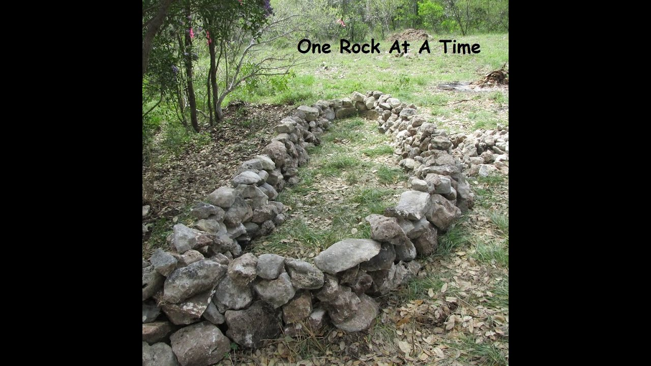 Rock Wall Raised Garden Bed - Part 1 - YouTube