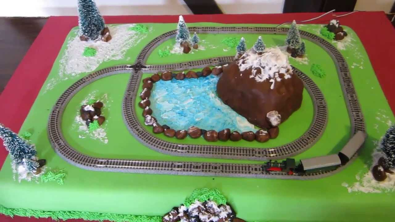 Train Cake - Boys  5th Birthday - YouTube