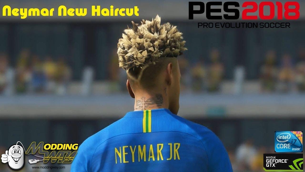 pes 2018 // neymar new haircut world cup // max settings 60fps - youtube