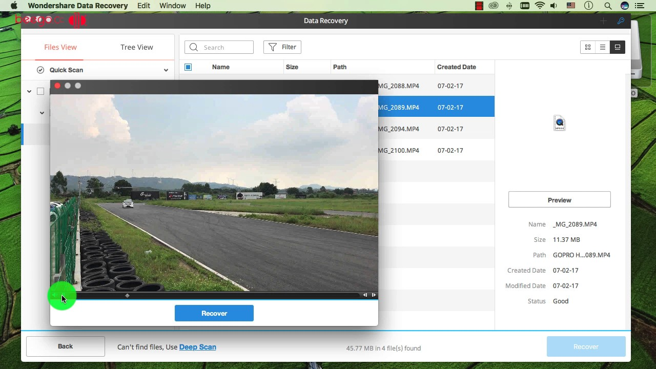 How to Recover Lost MP4 Videos from GoPro Hero on Mac ?