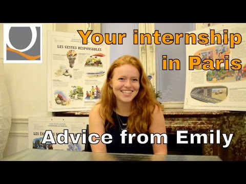 Watch our intern Emily who shares her experience about the internship in Paris