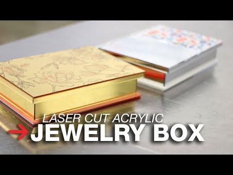 DIY Jewellery Box | Mirrored Jewelry Box | Laser Cut Mirrored Acrylic