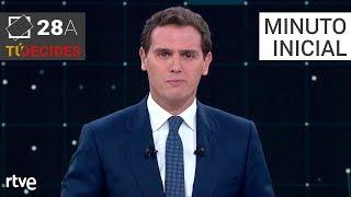 Minuto inicial de Albert Rivera   Debate en RTVE