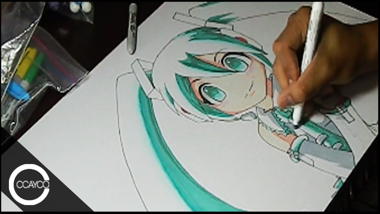 Drawing Chibi Hatsune Miku Vocaloid Playmat