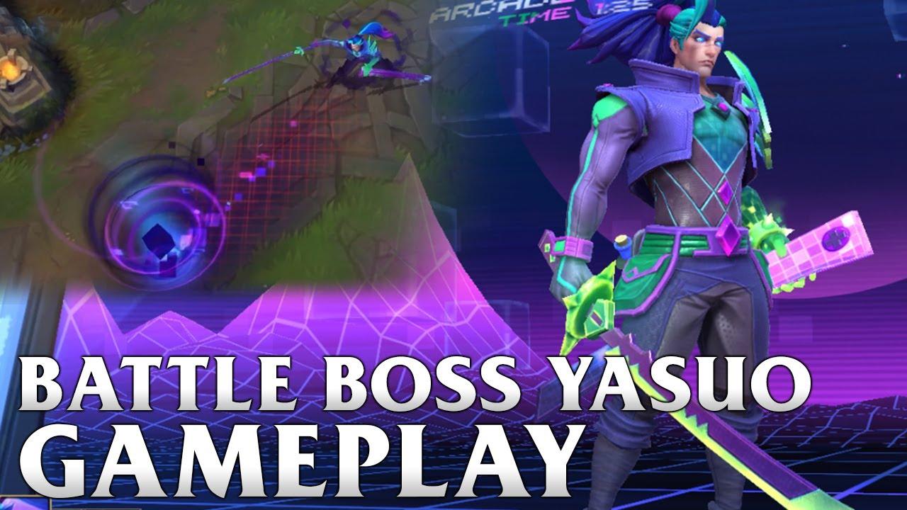 Battle Boss Yasuo Gameplay - WILD RIFT
