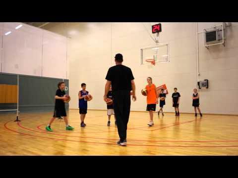 Basketball Fundamentals for Kids  Ball handling  Paul Burke  Norrköping Dolphins Clinic