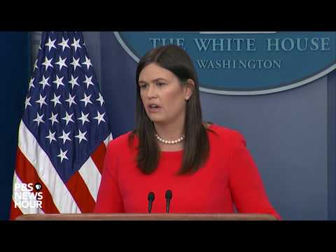 WATCH: Sarah Sanders holds White House news briefing