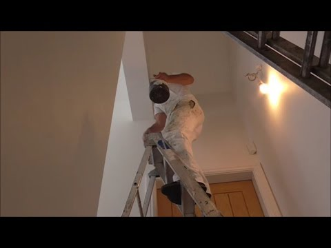How to paint an awkward staircase wall