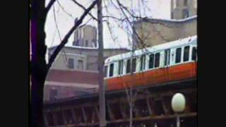 Boston Orange Line EL in 1987