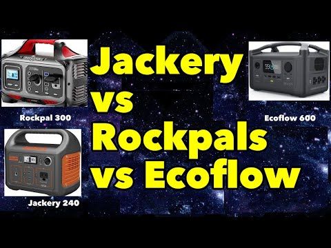 Jackery vs Rockpal vs Ecoflow Solar Generator