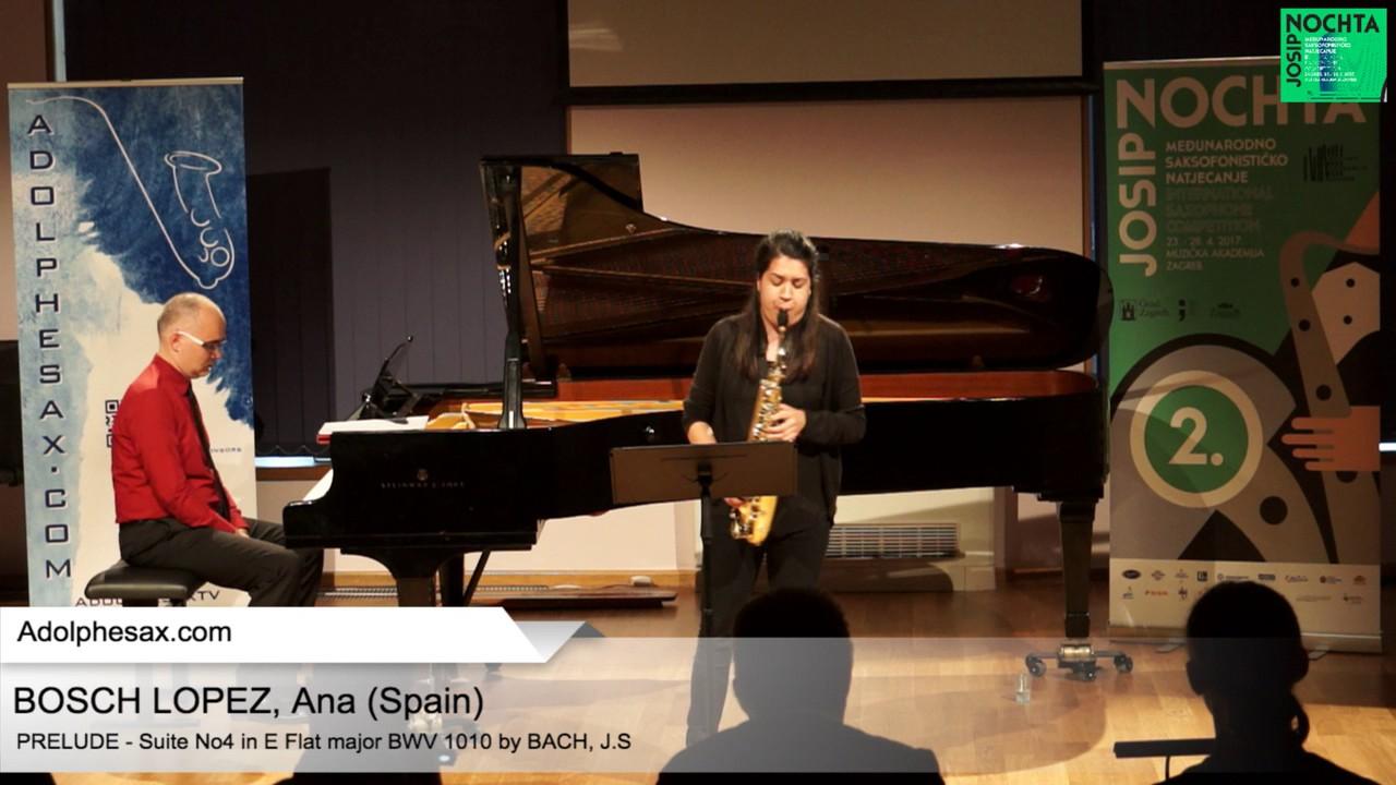 Johann Sebastian Bach – Suite No 4 in E- at major BWV 1010 Pre?lude -BOSCH LOPEZ, Ana (Spain)
