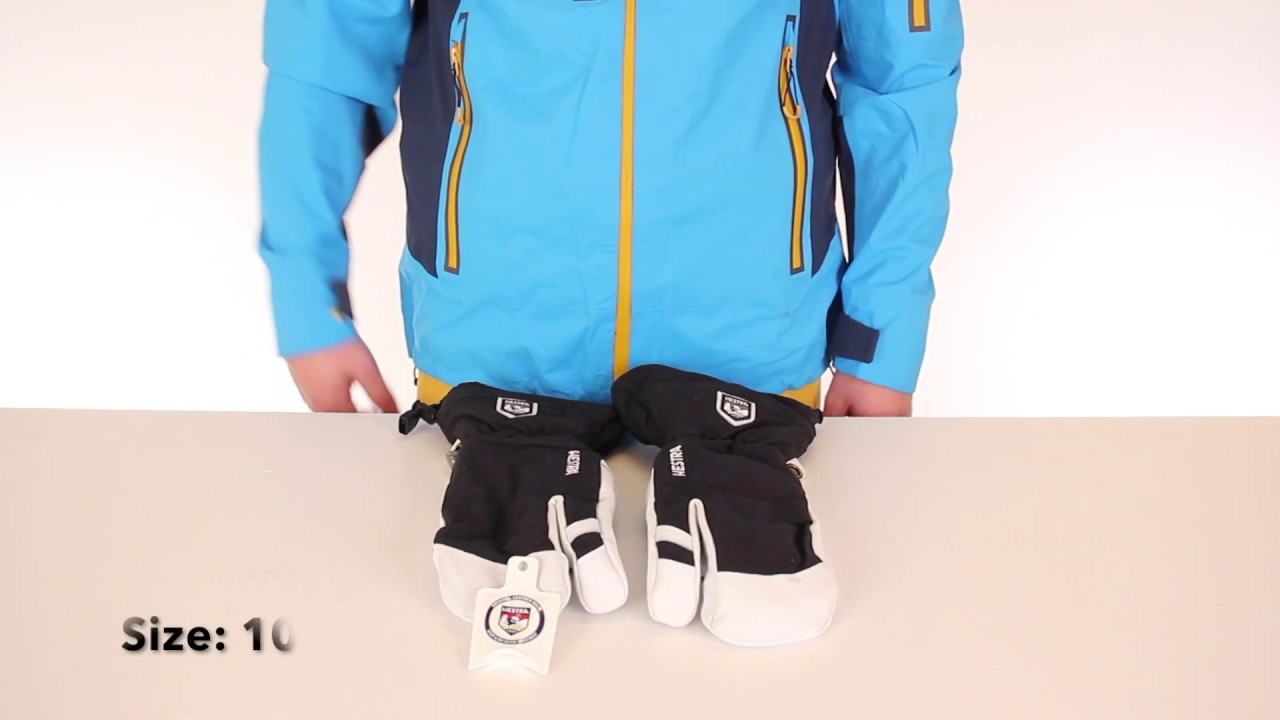 Hestra Army Leather Heli 3 Finger Ski Gloves Full Product