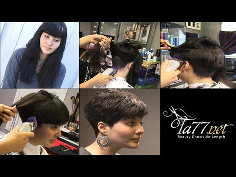 Free TA77.net video - Wednesday (2010) Part 1 She gets a pixie cut